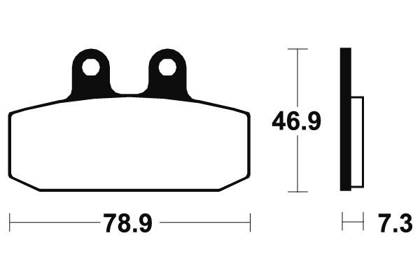 Přední brzdové destičky SBS (Bendix) MA 88 - Honda CITYFLY 125ccm - 99>