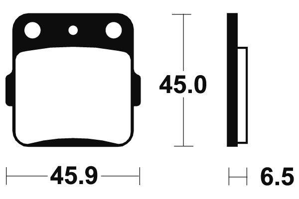 Přední brzdové destičky SBS (Bendix) MA 84 - Honda CRF R 150ccm - 07>
