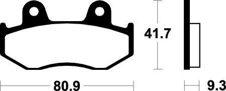 Přední brzdové destičky Bendix MA 209 - Honda Dylan 125ccm - 02>