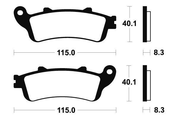 Přední brzdové destičky SBS (Bendix) MF 235 - Honda Foresight 250ccm - 00>