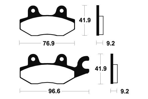 Přední brzdové destičky SBS (Bendix) MA 188 - Honda CB, 300ccm - 10>