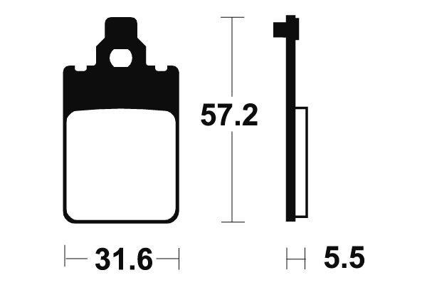 Přední brzdové destičky Bendix MA 107 - Yamaha DTR 50ccm - 98>