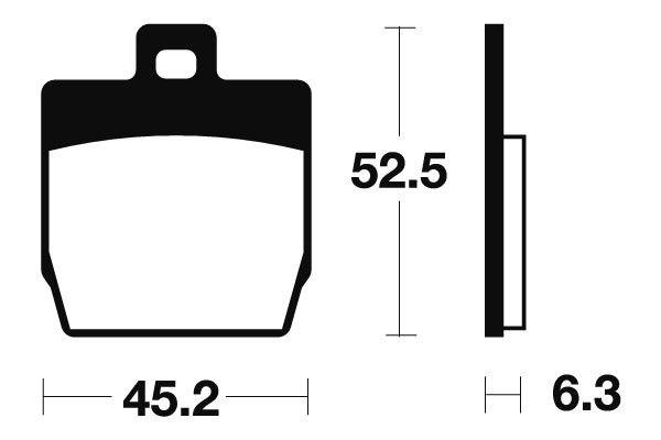 Přední brzdové destičky SBS (Bendix) MA 231 - Yamaha Slider 50ccm - 00>