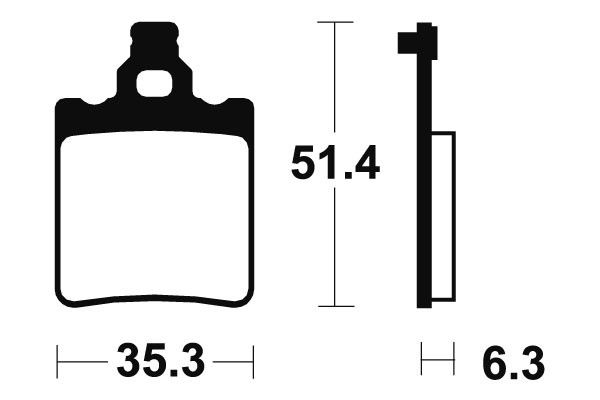 Zadní brzdové destičky SBS (Bendix) MA 74 - Aprilia RS Replica 50 ccm - 03>05