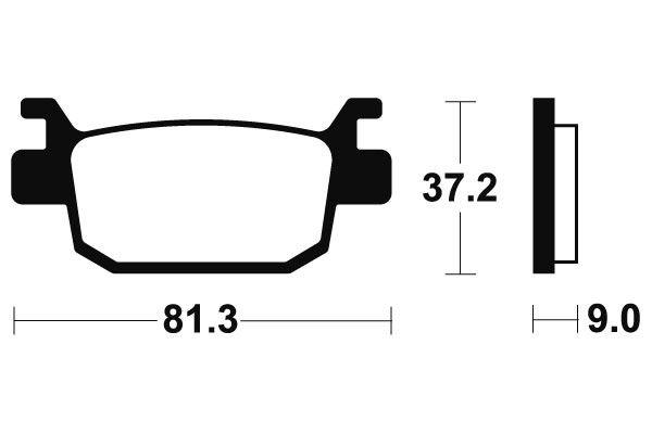 Zadní brzdové destičky SBS (Bendix) MA 332 - Honda SH i 300ccm - 07>