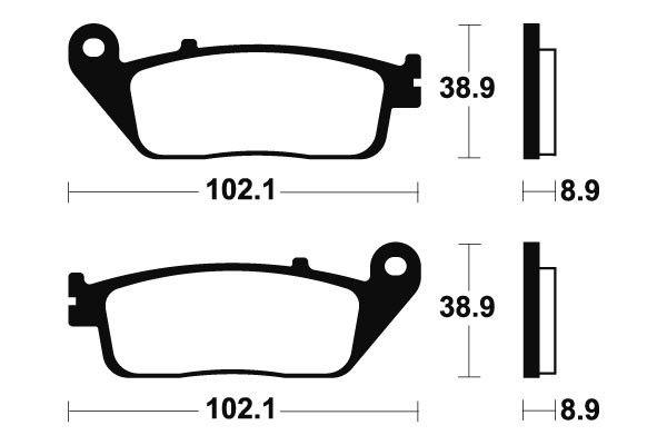Zadní brzdové destičky SBS (Bendix) MR 311 - Honda Silver Wing 400ccm - 06>08