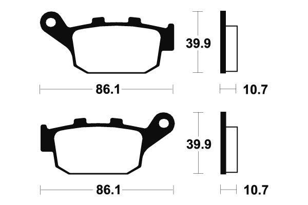Zadní brzdové destičky SBS (Bendix) MR 114 - Honda VTR 250ccm - 98>