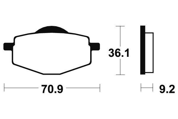 Přední brzdové destičky Bendix MA 75 - Yamaha Crypton 105ccm - 98>