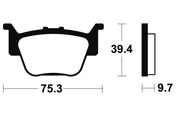 Zadní brzdové destičky Bendix MOR 313 - Honda TRX R 450ccm - 04>