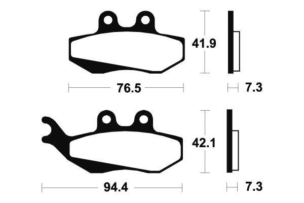 Přední brzdové destičky SBS 120HF - Aprilia MX 50 ccm - 03> SBS (Bendix)
