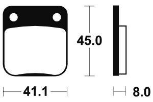 Přední brzdové destičky SBS 536HF - Honda CG 125ccm - 04>