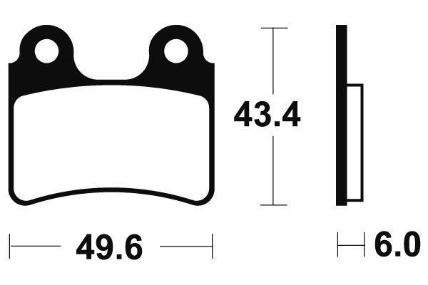 Přední brzdové destičky SBS 802HF - Honda COTA 4 RT 250ccm - 05> SBS (Bendix)