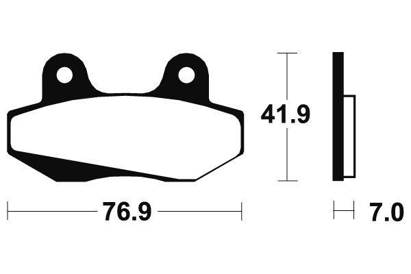 Přední brzdové destičky SBS 551HF - Honda FJ Sonic 125ccm - 03> SBS (Bendix)