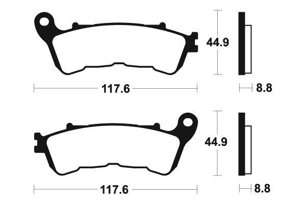 Přední brzdové destičky SBS 192HF - Honda NSS JAZZ 250ccm - 05> SBS (Bendix)