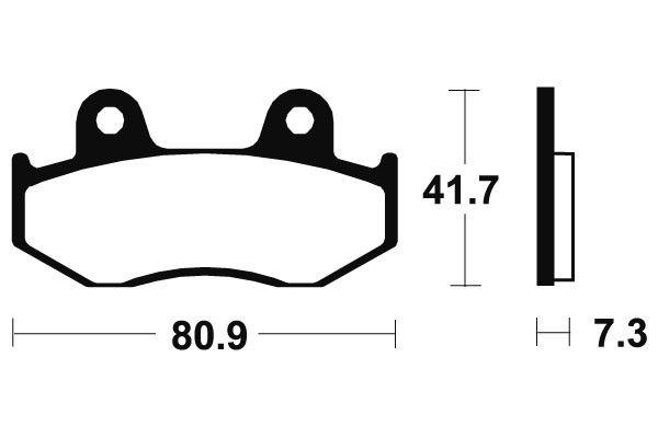 Přední brzdové destičky SBS 104HF - Honda SH 125ccm - 01>08 SBS (Bendix)