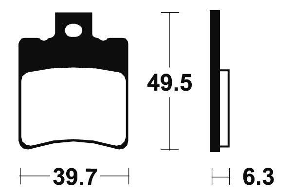 Přední brzdové destičky SBS 123HF - Honda SKY Classic, Vetro 50 ccm - 00> SBS (Bendix)