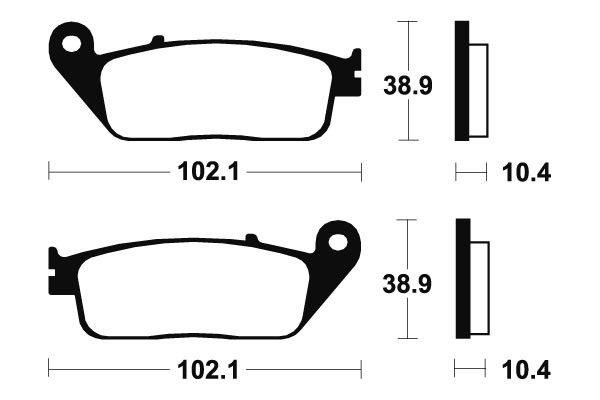 Přední brzdové destičky SBS 654HF - Honda VTR 250ccm - 98> SBS (Bendix)