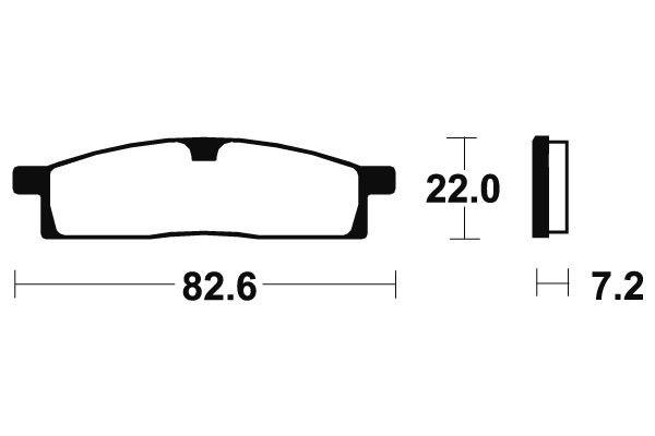 Přední brzdové destičky SBS 589HF - Yamaha DT LCD 50ccm - 98> SBS (Bendix)