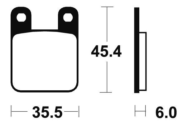 Přední brzdové destičky SBS 105HF - Yamaha DT R 50ccm - 04> SBS (Bendix)