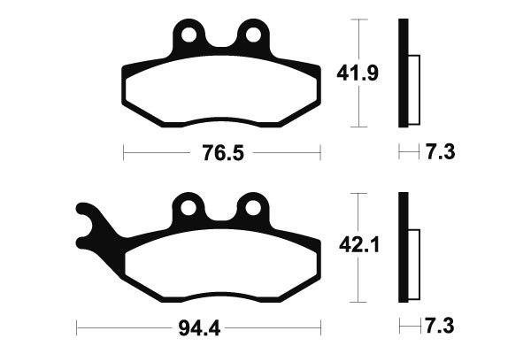 Přední brzdové destičky SBS 168HF - Yamaha DT X Supermotard 50ccm - 04> SBS (Bendix)