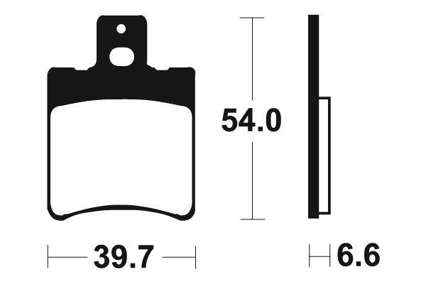 Přední brzdové destičky SBS 114HF - Yamaha YH 50ccm - 98> SBS (Bendix)