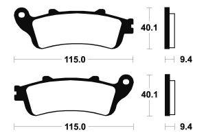 Přední brzdové destičky Brembo 07034 - Honda Pantheon FES, 150ccm - 03>