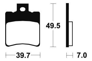 Přední brzdové destičky Brembo 07BB1834 - Aprilia Mojito/Mojito Custom, 50 ccm - 03>10