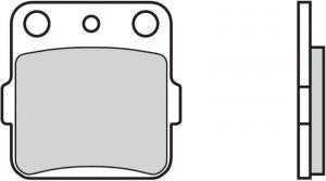 Přední brzdové destičky Brembo 07HO2205 - Honda CR, 80ccm - 03>