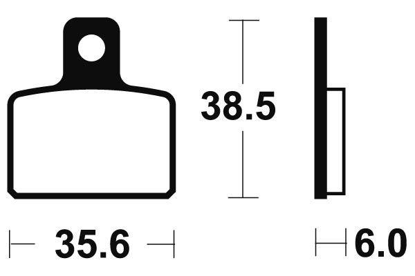 Zadní brzdové destičky SBS 803HF - Honda COTA 4 RT 250ccm - 05> SBS (Bendix)