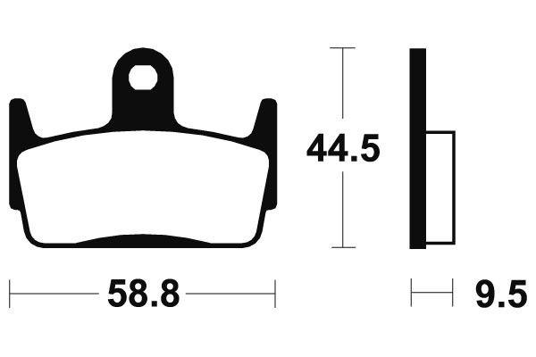 Zadní brzdové destičky SBS 129HF - Honda CR 80ccm - 03> SBS (Bendix)