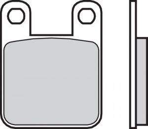 Zadní brzdové destičky Brembo 07044 - Aprilia RS 50 ccm - 06>