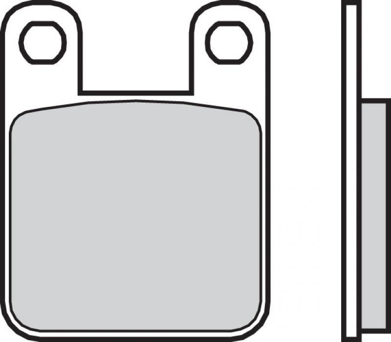 Zadní brzdové destičky Brembo 07044 - Aprilia RS 50 ccm - 06> Brembo (Itálie)