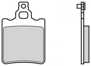 Zadní brzdové destičky Brembo 07BB13SD - Aprilia RS Replica 50 ccm - 03>05
