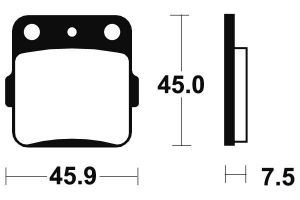 Zadní brzdové destičky Brembo 07HO32SD - Honda TRX X 300ccm - 09>