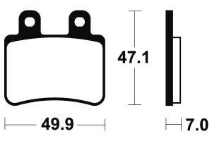 Zadní brzdové destičky Brembo 07048 - Yamaha DT R 50ccm - 04>