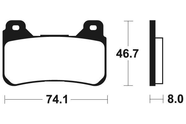 Přední brzdové destičky SBS 809HS - Honda Crossrunner, 800ccm - 15-16 SBS (Bendix)