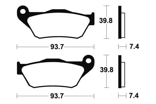 Přední brzdové destičky Brembo 07065XS - Yamaha X-Max 125ccm - 06>09 Brembo (Itálie)