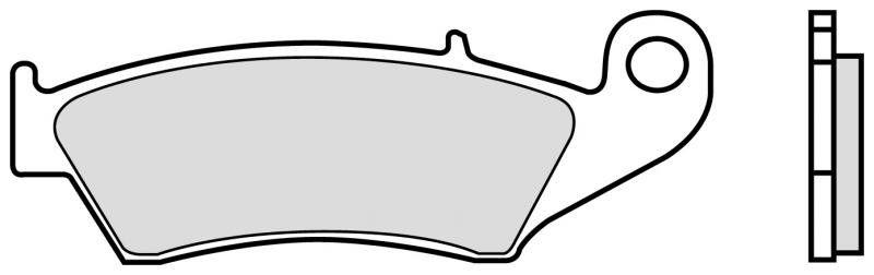 Přední brzdové destičky Brembo 07KA1705 - Honda XR 650 R, 650ccm - 00-07 Brembo (Itálie)