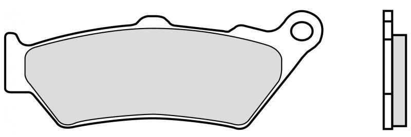 Přední brzdové destičky Brembo 07BB03SA - Honda CB500, 500ccm - 97-03 Brembo (Itálie)