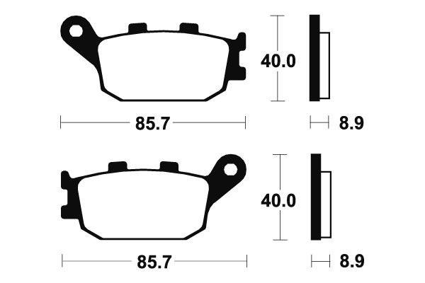 Zadní brzdové destičky SBS 657HF - Honda CBF500 ABS, 500ccm - 04-08 SBS (Bendix)