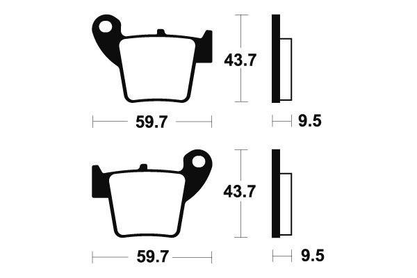Zadní brzdové destičky SBS 777RSI - Honda CRE F 450ccm - 02> SBS (Bendix)