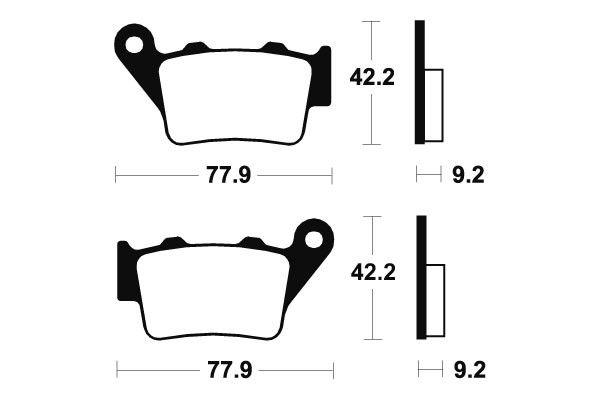 Zadní brzdové destičky SBS 675LS - Honda FX 650 Vigor, 650ccm - 99-02 SBS (Bendix)