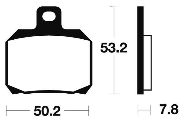 Zadní brzdové destičky SBS 157HF - Yamaha X-Max 125ccm - 06>09 SBS (Bendix)