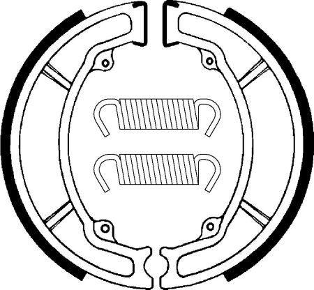 Zadní brzdové pakny SBS (Bendix) BA 034 - Yamaha Aerox 100ccm - 00>