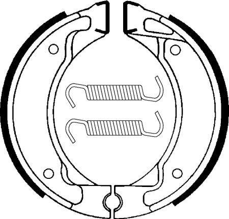 Zadní brzdové pakny SBS (Bendix) BA 050- Yamaha Crypton 105ccm - 98>
