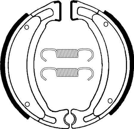 Zadní brzdové pakny SBS (Bendix) BA 028 - Yamaha TT-R LW 125ccm - 00>