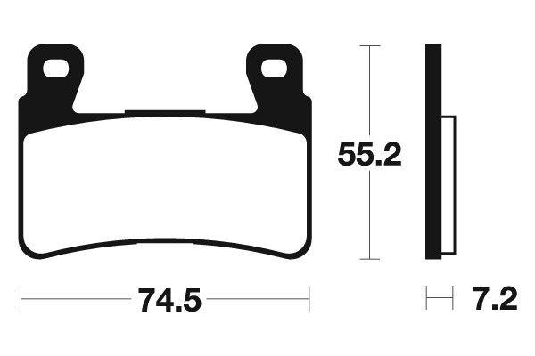 Přední brzdové destičky SBS 734HF - Honda CBR 954 RR Fireblade, 954ccm - 02-03 SBS (Bendix)