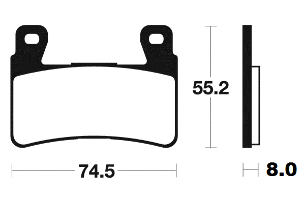 Přední brzdové destičky SBS 734RS - Honda CBR 954 RR Fireblade, 954ccm - 02-03 SBS (Bendix)