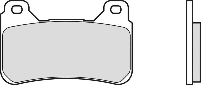 Přední brzdové destičky SBS 809RS - Honda CBR 1000 RR Fireblade ABS 1000ccm - 04-15 SBS (Bendix)