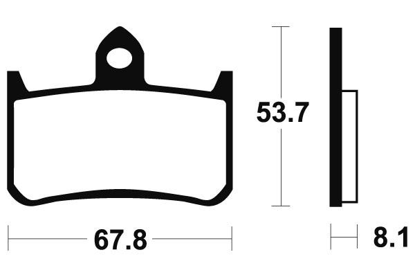 Přední brzdové destičky SBS 622HF- Honda CB 900 F Hornet, 900ccm - 01-07 SBS (Bendix)